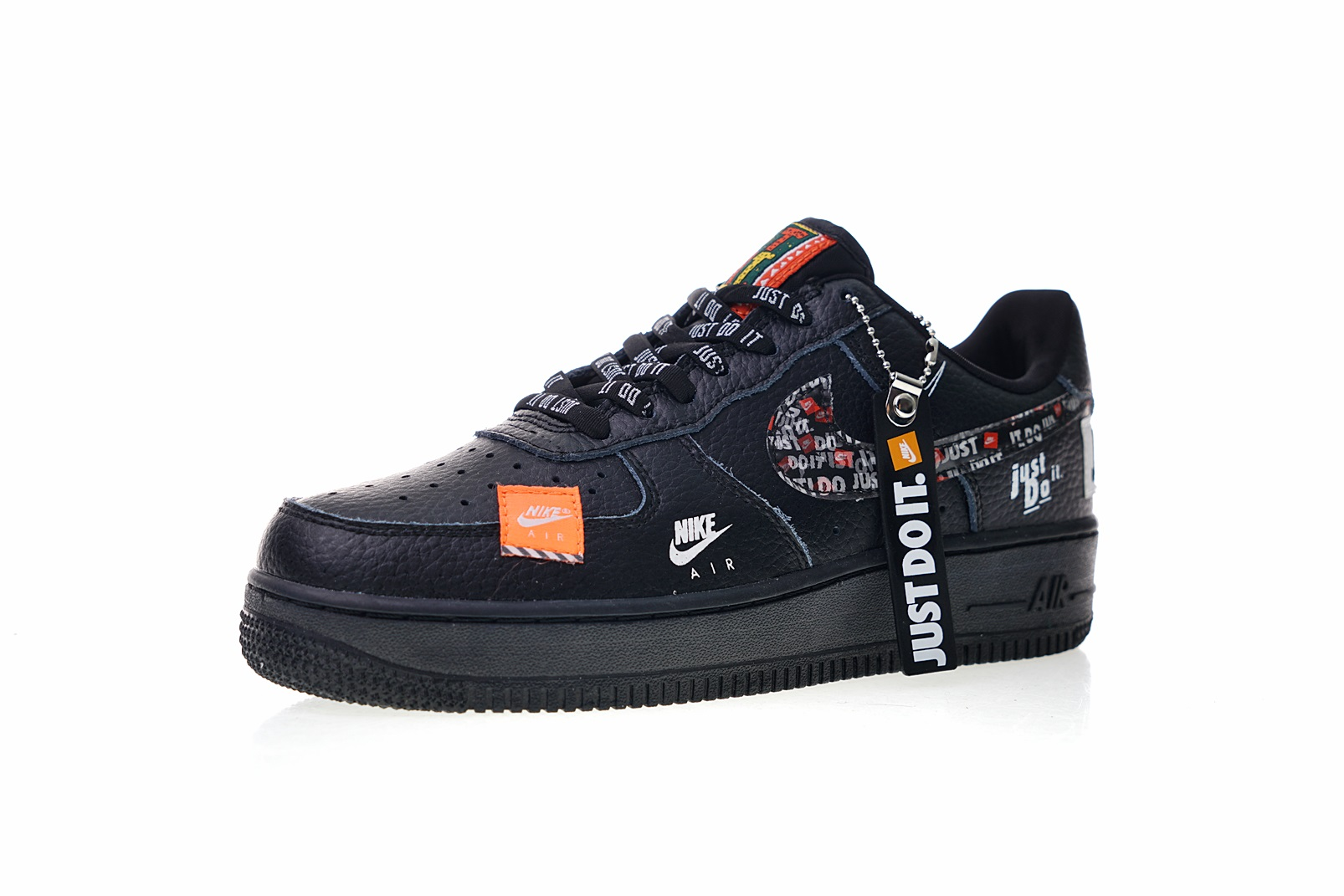 nike air force 1 just do it noir
