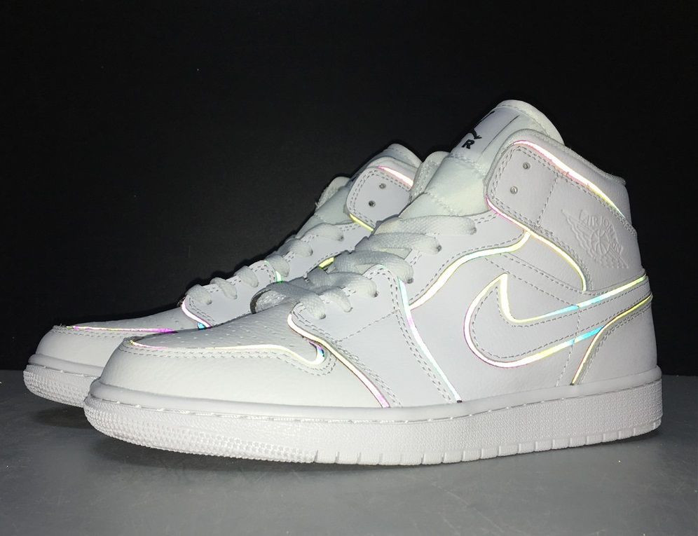 Nike Air Jordan 1 Iridescent Reflective Kingwalk